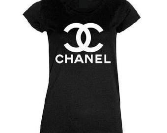 Chanel Tee Shirt, Coco Chanel Bling Apparel Woman Men Kids Boy Girl Clothing Tee Shirt, Tumblr Vogue Graphic Royalty Luxury Tee shirt Gift