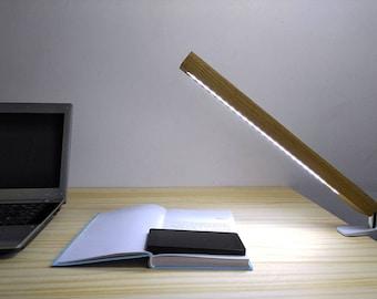 Solid Wood LED Rule Table Lamp Handmade