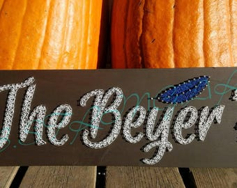 string art last name - wall decoration - name - Family name