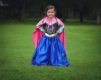 Anna Costume / Inspired Disney Princess Dress Frozen Anna Dress / Costume  / Girls, kids, toddlers, child