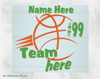 Basketball Decal Etsy - Team window decals personalized
