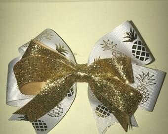 Glitter Pineapple Bow