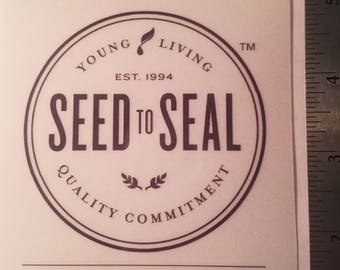 Seed to seal sticker