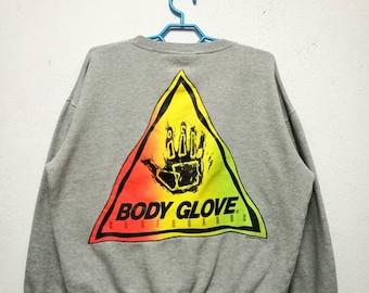 Vintage 90s 1990 Body Glove Surfboards Surfing Sweater Sweatshirt