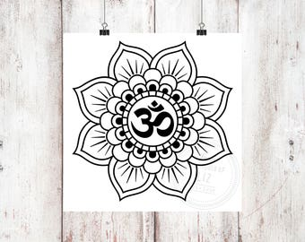 OM Mandala Vinyl Decal