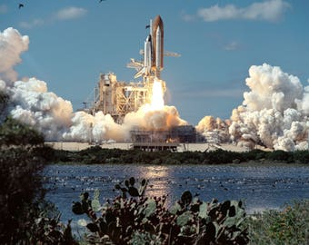 Space Shuttle Atlantis Takes off in 1994 - Photo - Print