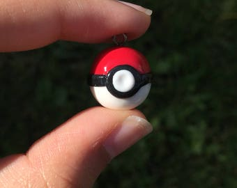 Polymer Clay Pokeball Charm