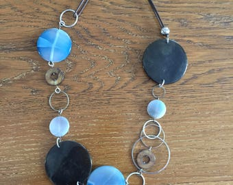 """necklace """"black and blue"""""""
