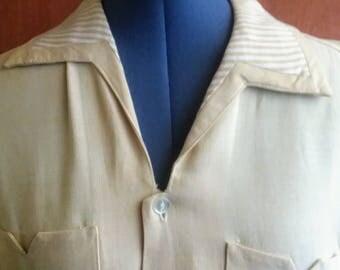 Vintage custom made gabardine Shirt Jack