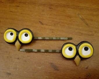 2 Innocent Owl Eyes hair pins