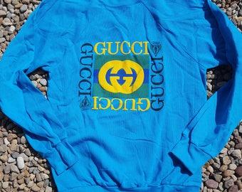 Classic gucci sweatshirt sz. Large 90's mint deadstock very RaRe!!