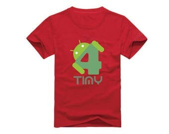 Android Name and Number T-Shirt for children - available in many sizes and colors