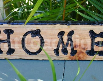 Rustic Home Sign, Reclaimed Timber, Hand Engraved, Hand Painted, Wood Sign, Gift Ideas, House Sign