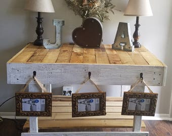 Rustic table, handmade table, chic table, entryway table, pallet table