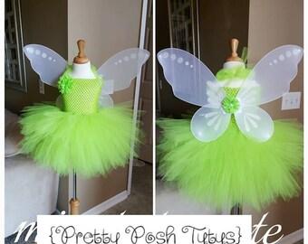 Tinker bell costume tutu dress!! Halloween costume, tutu costume, birthday tutu dress, princess tutu dress, Tinker bell dress
