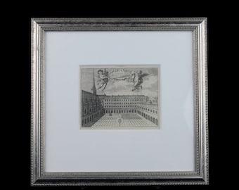 Rare Magdeline Horthemels Cloistre De Port-Royal Des Champs Framed 18th Century Copperplate Engraving