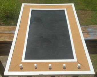 Corkboard chalkboard