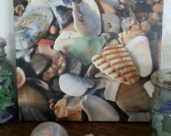 Seafoam Seaglass Canvas