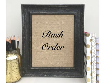 ON SALE Rush Order - Ships Priority Mail