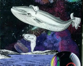 Whale Of A Tale. One of a kind. Collage Art