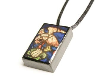 Stained Glass #5 Wooden Pendant