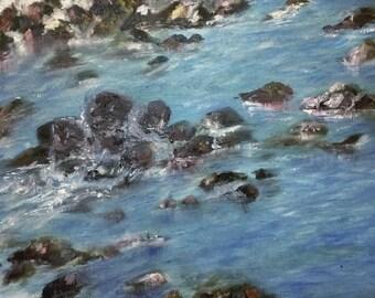"""Stream - print of Oil painting - 11x14"""" wallart - art print"""
