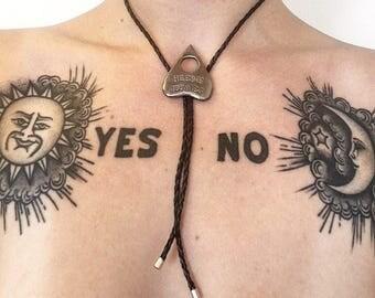 Heebie Jeebies Ouija Bolo Tie Necklace