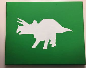Triceratops Painting on Canvas