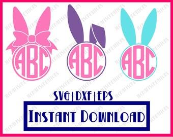 Easter Bundle SVG, svg files, Easter svg, Easter Monogram svg, Easter Basket, Svg, Bunny svg, cricut svg, silhouette cut file