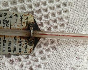 Vintage Meat Thermometer John L. Chaney Co Lake Geneva Wisconsin USA