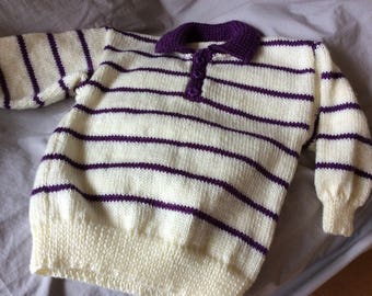 Knitted girls jumper
