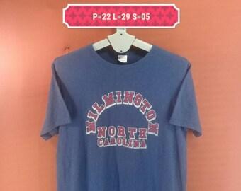 Vintage Champion Running Man Shirt North Carolina Blue Colour Size XL Polo Ralph Lauren Shirts Nike Shirt Band Shirts Skate