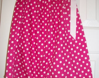 Pink and White Dot Pillow Case Dress