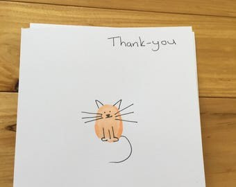 Cool cat thank-you card