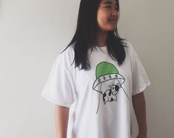 "T SHIRT ""MOO"" Cotton Printed"