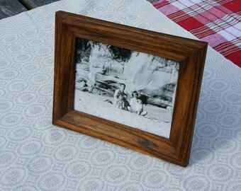 "Wood photo frame // Zebrano picture frame // Handmade photo frame // 20x15cm // 6"" x 8"""