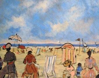 Scène de plage à Trouville