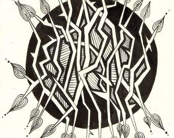 Circle - A4 Original Pen and Ink Illustration