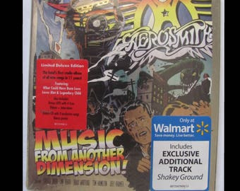 AEROSMITH Music From Another Dimension Deluxe CD DVD Edition Walmart Exclusive