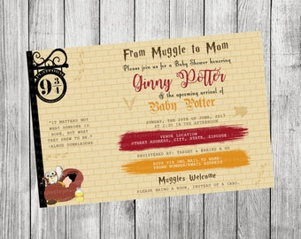Harry Potter Baby Shower Invitation