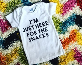 Im just here for the snacks // toddler shirt // snacks // 18 month shirt // 24 month shirt // funny toddler