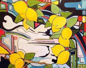 Lemon tree- large size 31 x 31inches