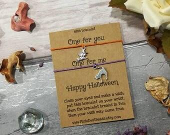 Double Halloween Wish Bracelet, Halloween Bracelet, Halloween Jewellery,  Trick Or Treat Gift,