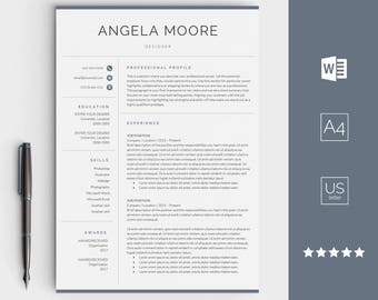Resume Template For Word   Instant Download CV Template   Creative Design  With Cover Letter,  Resume Template Design