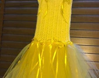 Handmade tutu yellow aged 4-5 years