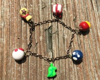 Animal Crossing Polymer Clay Charm Bracelet