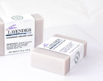 Organic Handmade Lavender Soap by Five Natures