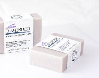 Lavender Organic Handmade Soap by Five Natures