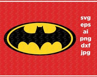 Batman SVG, superhero svg, batman sign, cricut silhouette cutting file, dxf, eps, png, download, Batman clipart, Batman LOGO, Batman png