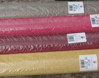 Italian Crepe Paper Roll,Florist crepe paper, decor,Paper Crafts, Rolls of Paper,Italian Stretch Crepe Paper, Florist Gift Wrap.